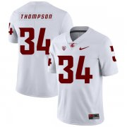 Wholesale Cheap Washington State Cougars 34 Jalen Thompson White College Football Jersey