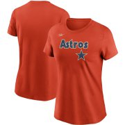 Wholesale Cheap Houston Astros Nike Women's Cooperstown Collection Wordmark T-Shirt Orange