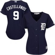 Wholesale Cheap Tigers #9 Nick Castellanos Navy Blue Alternate Women's Stitched MLB Jersey