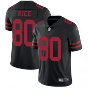 Wholesale Cheap Nike 49ers #80 Jerry Rice Black Alternate Youth Stitched NFL Vapor Untouchable Limited Jersey