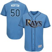 Wholesale Cheap Rays #50 Charlie Morton Light Blue Flexbase Authentic Collection Stitched MLB Jersey