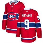 Wholesale Cheap Adidas Canadiens #9 Maurice Richard Red Home Authentic Stitched Youth NHL Jersey