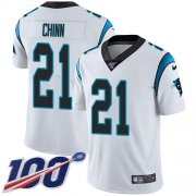 Wholesale Cheap Nike Panthers #21 Jeremy Chinn White Men's Stitched NFL 100th Season Vapor Untouchable Limited Jersey