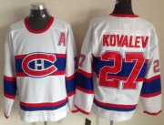 Wholesale Cheap Canadiens #27 Alexei Kovalev White CCM Throwback Stitched NHL Jersey