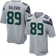 Wholesale Cheap Nike Seahawks #89 Doug Baldwin Grey Alternate Youth Stitched NFL Elite Jersey