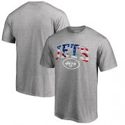 Wholesale Cheap Men's New York Jets Pro Line by Fanatics Branded Heathered Gray Banner Wave T-Shirt