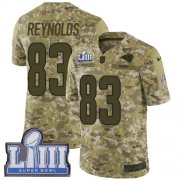 Wholesale Cheap Nike Rams #83 Josh Reynolds Camo Super Bowl LIII Bound Men's Stitched NFL Limited 2018 Salute To Service Jersey