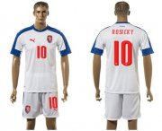 Wholesale Cheap Czech #10 Rosicky Away Soccer Country Jersey
