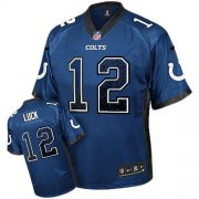 Wholesale Cheap Nike Colts #12 Andrew Luck Royal Blue Team Color Youth Stitched NFL Elite Drift Fashion Jersey
