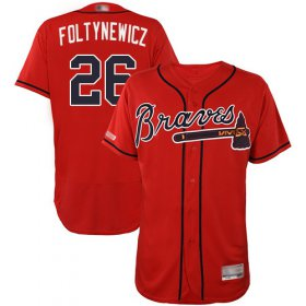Wholesale Cheap Braves #26 Mike Foltynewicz Red Flexbase Authentic Collection Stitched MLB Jersey