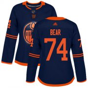 Wholesale Cheap Adidas Oilers #74 Ethan Bear Navy Alternate Authentic Women's Stitched NHL Jersey