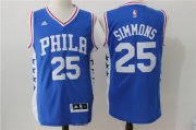 Wholesale Cheap Men's Philadelphia 76ers #25 Ben Simmons Blue Revolution 30 Swingman Basketball Jersey