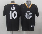 Wholesale Cheap Golden State Warriors #10 David Lee Revolution 30 Swingman 2014 New Black Short-Sleeved Jersey