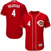 Wholesale Cheap Reds #4 Jose Iglesias Red Flexbase Authentic Collection Stitched MLB Jersey