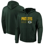Wholesale Cheap Green Bay Packers Majestic Hyper Stack Full-Zip Hoodie Green