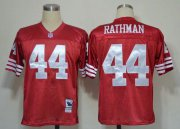 Wholesale Cheap Mitchell And Ness 49ers #44 Tom Rathman Red Stitched Throwback NFL Jersey