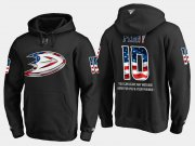 Wholesale Cheap Ducks #10 Corey Perry NHL Banner Wave Usa Flag Black Hoodie