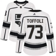 Wholesale Cheap Adidas Kings #73 Tyler Toffoli White Road Authentic Women's Stitched NHL Jersey
