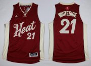 Wholesale Cheap Men's Miami Heat #21 Hassan Whiteside Revolution 30 Swingman 2015 Christmas Day Red Jersey