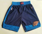 Wholesale Cheap Men's Oklahoma City Thunder Navy Blue 2017-2018 Nike Swingman Stitched NBA Shorts