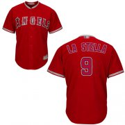 Wholesale Cheap Angels of Anaheim #9 Tommy La Stella Red New Cool Base Stitched MLB Jersey