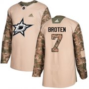 Wholesale Cheap Adidas Stars #7 Neal Broten Camo Authentic 2017 Veterans Day Stitched NHL Jersey