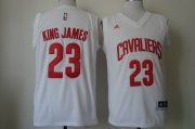 Wholesale Cheap Cleveland Cavaliers #23 King James 2015 White Fashion Jersey