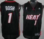 Wholesale Cheap Miami Heat #1 Chris Bosh Revolution 30 Swingman Black Jersey