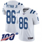 Wholesale Cheap Nike Colts #86 Michael Pittman Jr. White Youth Stitched NFL 100th Season Vapor Untouchable Limited Jersey