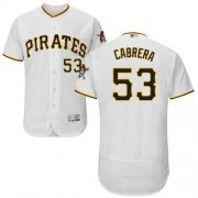 Wholesale Cheap Pirates #53 Melky Cabrera White Flexbase Authentic Collection Stitched MLB Jersey