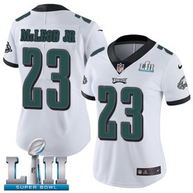 Wholesale Cheap Nike Eagles #23 Rodney McLeod Jr White Super Bowl LII Women\'s Stitched NFL Vapor Untouchable Limited Jersey