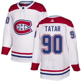 Wholesale Cheap Adidas Canadiens #90 Tomas Tatar White Road Authentic Stitched NHL Jersey