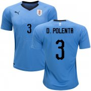 Wholesale Cheap Uruguay #3 D.Polenta Home Soccer Country Jersey