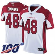 Wholesale Cheap Nike Cardinals #48 Isaiah Simmons White Men's Stitched NFL 100th Season Vapor Untouchable Limited Jersey
