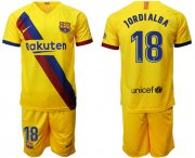 Wholesale Cheap Barcelona #18 Jordi Alba Away Soccer Club Jersey