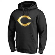 Wholesale Cheap Cincinnati Reds Gold Collection Pullover Hoodie Black
