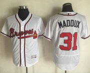 Wholesale Cheap Braves #31 Greg Maddux White Flexbase Authentic Collection Stitched MLB Jersey