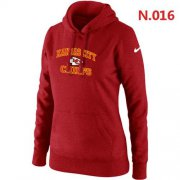 Wholesale Cheap Women's Nike Kansas City Chiefs Heart & Soul Pullover Hoodie Red