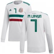 Wholesale Cheap Mexico #7 M.Layun Away Long Sleeves Soccer Country Jersey