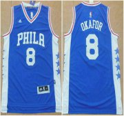 Wholesale Cheap Philadelphia Sixers #8 Jahlil Okafor Revolution 30 Swingman 2015 New Blue Jersey
