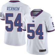 Wholesale Cheap Nike Giants #54 Olivier Vernon White Men's Stitched NFL Limited Rush Jersey