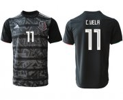 Wholesale Cheap Mexico #11 C.Vela Black Soccer Country Jersey