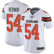 Wholesale Cheap Nike Browns #54 Olivier Vernon White Women's Stitched NFL Vapor Untouchable Limited Jersey