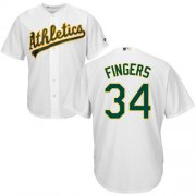 Wholesale Cheap Athletics #34 Rollie Fingers White Cool Base Stitched Youth MLB Jersey