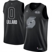 Wholesale Cheap Nike Blazers #0 Damian Lillard Black NBA Jordan Swingman 2018 All-Star Game Jersey