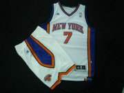 Wholesale Cheap New York Knicks 7 Carmelo Anthony white color Basketball Suit