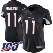 Wholesale Cheap Nike Cardinals #11 Larry Fitzgerald Black Alternate Women's Stitched NFL 100th Season Vapor Limited Jersey