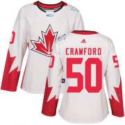 Wholesale Cheap Team Canada #50 Corey Crawford White 2016 World Cup Women's Stitched NHL Jersey