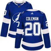 Cheap Adidas Lightning #20 Blake Coleman Blue Home Authentic Women's Stitched NHL Jersey
