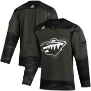 Wholesale Cheap Minnesota Wild Adidas 2019 Veterans Day Authentic Practice NHL Jersey Camo
